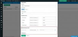 Roistat - Настройки проекта - Заявки с форм сайта - Дополнительные поля