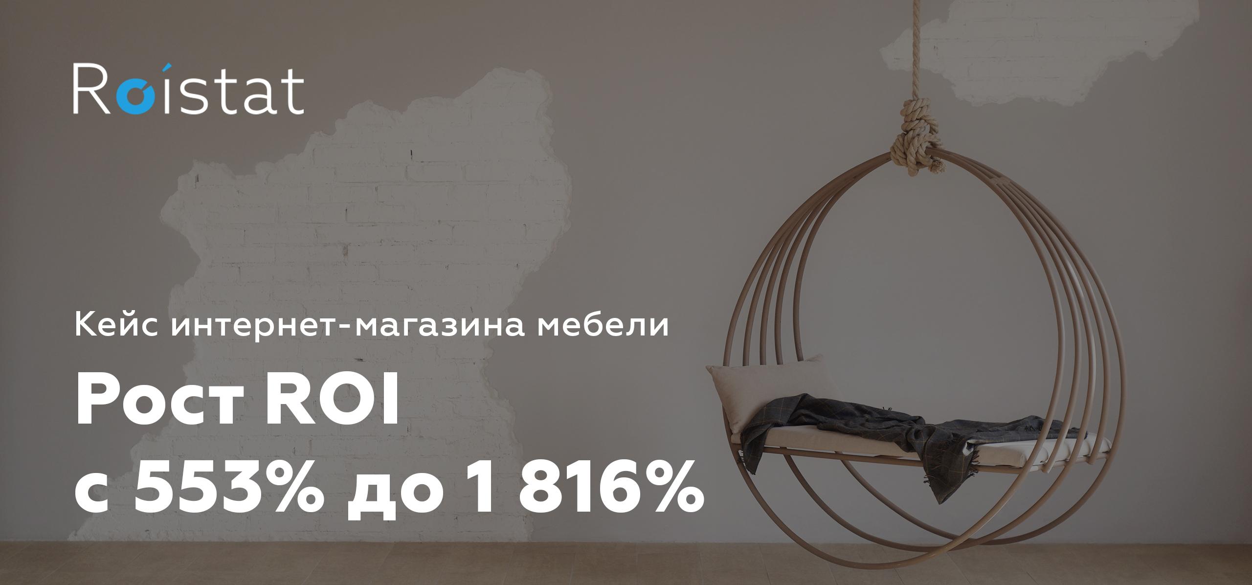 Рост ROI до 1816% для интернет-магазина мебели