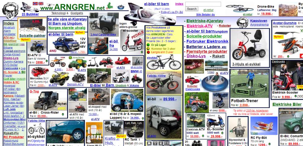 Сайт arngren.net