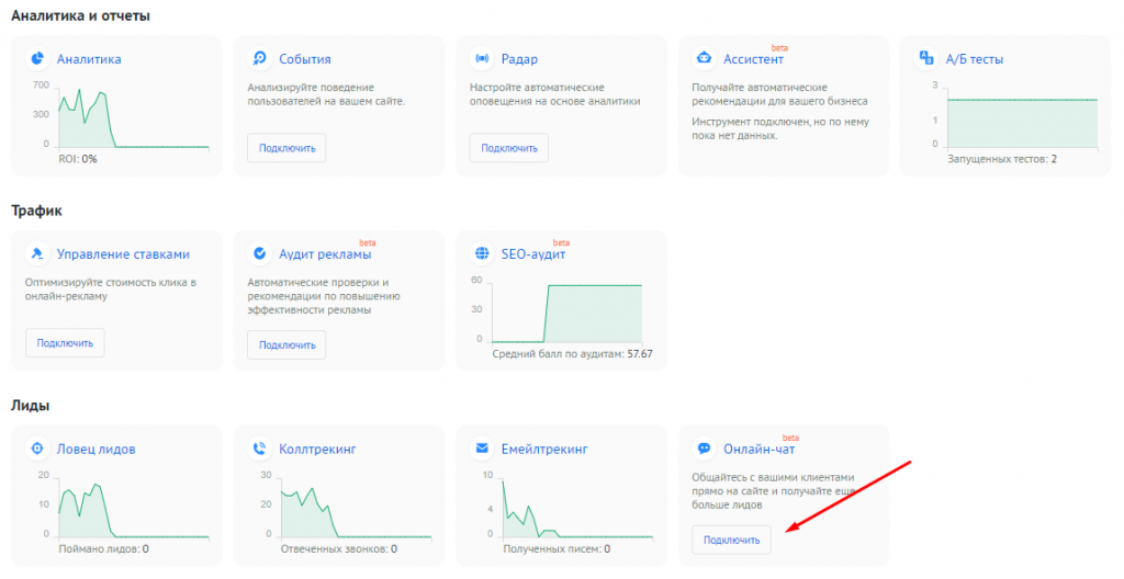 Обновления Roistat: новый инструмент «Онлайн-чат».