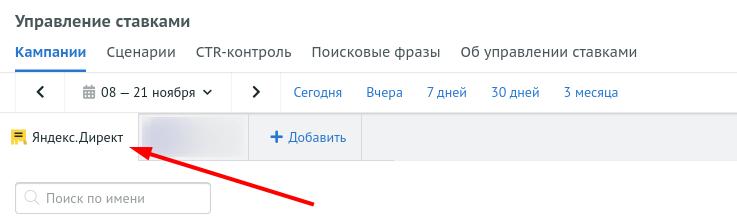 Управление ставками Яндекс.Директ.